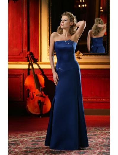 A-Line/Princess Strapless Floor-Length Satin Bridesmaid dress for brides new Style(BD0015)