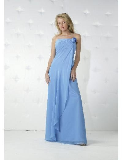 Empire Strapless Floor Length Chiffon Bridesmaid Dresses for brides new Style(BD0159)