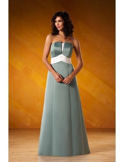 A-Line/Princess Strapless Floor-Length Satin Bridesmaid dress for brides new Style(BD0064)