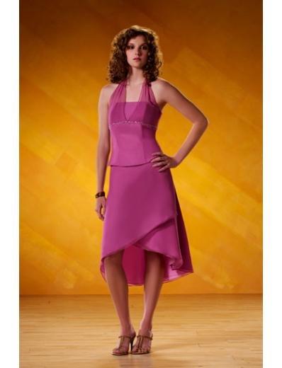 A-Line/Princess halter top Cocktail Chiffon Bridesmaid Dresses for brides new style(BD0100)