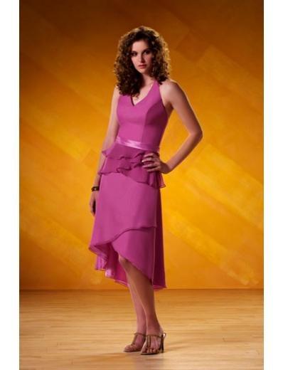 A-Line/Princess halter top Cocktail Chiffon Bridesmaid Dresses for brides new style(BD0101)