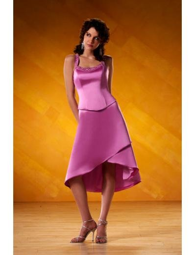 A-Line/Princess Spaghetti straps Cocktail Satin Bridesmaid Dresses for brides new style(BD0102)