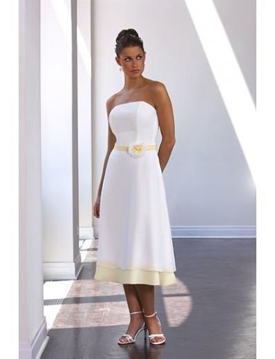 A-Line/Princess Strapless Knee-Length Satin Bridesmaid dress for brides new Style(BD0035)