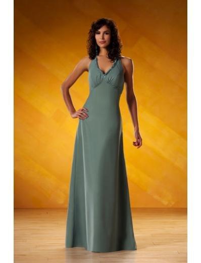A-Line/Princess V-neck Floor-Length Satin Bridesmaid dress for brides new Style(BD0065)