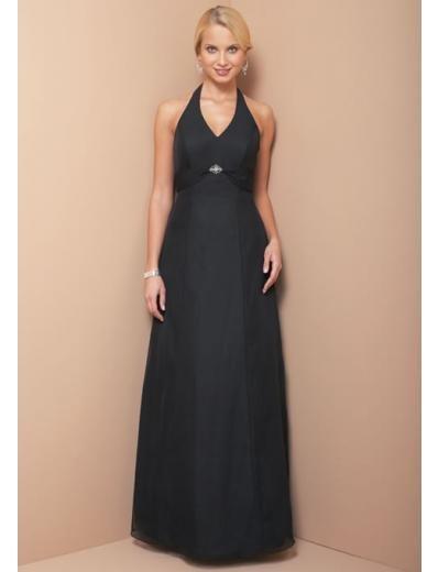 A-Line/Princess halter top Floor Length Satin Bridesmaid Dresses for brides new style(BD0108)