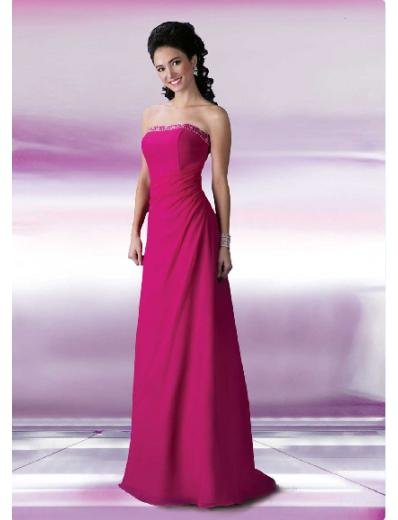 A-Line/Princess Strapless Floor Length Satin Bridesmaid Dresses for brides new style(BD0111)
