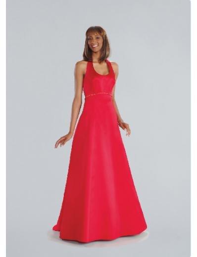 A-Line/Princess Halter top Floor-length Satin Bridesmaid Dresses for brides new Style(BD0198)