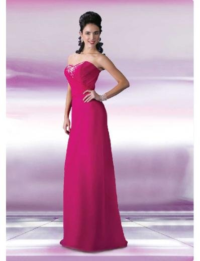 A-Line/Princess Strapless Floor Length Satin Bridesmaid Dresses for brides new style(BD0114)