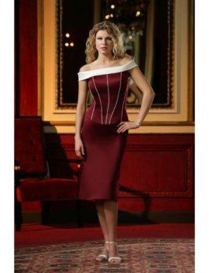 A-Line/Princess Off-the-shoulder Tea-length Satin Bridesmaid dress for brides new Style(BD0080)