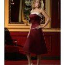 A-Line/Princess Strapless Tea-length Satin Bridesmaid dress for brides new Style(BD0079)