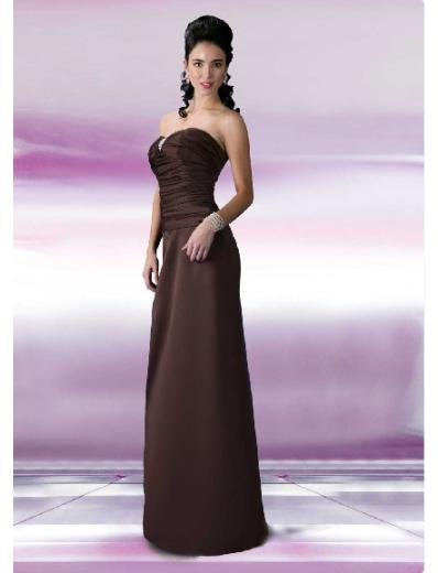 A-Line/Princess Strapless Floor Length Satin Bridesmaid Dresses for brides new style(BD0115)