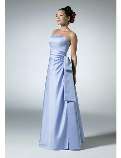 A-Line/Princess Strapless Floor Length Satin Bridesmaid Dresses for brides new style(BD0106)