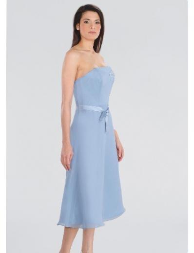A-Line/Princess Strapless Knee-length Chiffon Bridesmaid Dresses for brides new Style(BD0194)