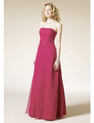 A-Line/Princess Strapless Floor Length Satin Bridesmaid Dresses for brides new style(BD0107)
