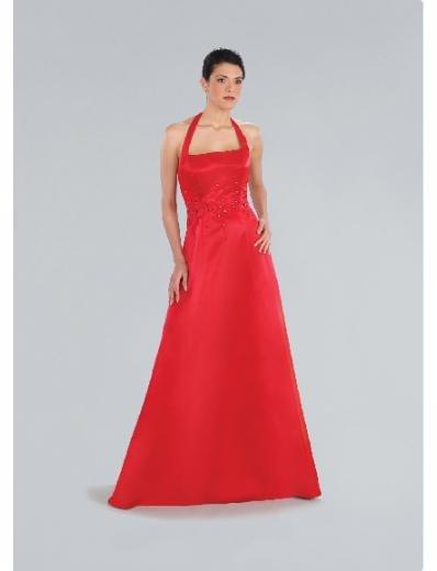 A-Line/Princess Halter top Floor-length Satin Bridesmaid Dresses for brides new Style(BD0195)