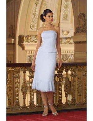 A-Line/Princess Strapless Tea-length Satin Bridesmaid dress for brides new Style(BD0076)