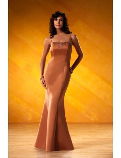 Mermaid spaghetti straps Floor-Length Satin Bridesmaid dress for brides new Style(BD0071)