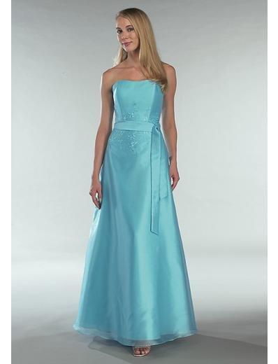 A-Line/Princess Strapless Floor Length Satin Bridesmaid dress for brides new Style(BD0342)