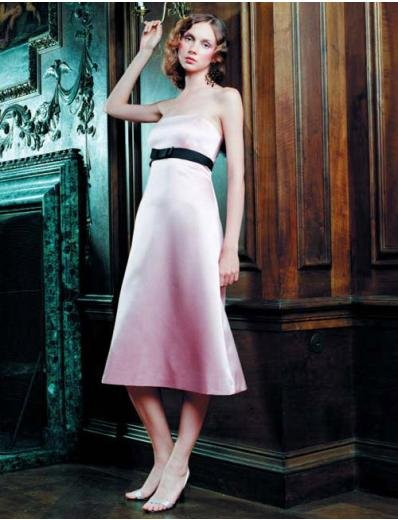 A-Line/Princess Strapless Tea-length Satin Bridesmaid Dresses for brides new style(BDS0044)