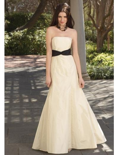 A-Line/Princess Strapless Floor-Length Satin Bridesmaid dress for brides new Style(BDS0028)
