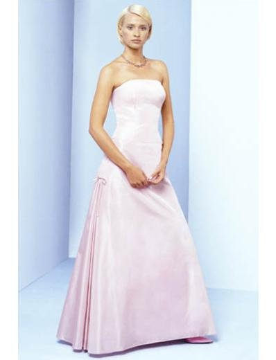 A-Line/Princess Strapless Floor-length Satin Bridesmaid Dresses for brides new style(BDS0045)