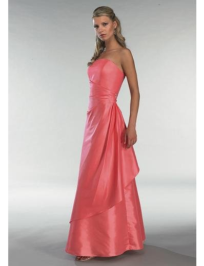 A-Line/Princess Strapless Floor Length Satin Bridesmaid dress for brides new Style(BD0341)