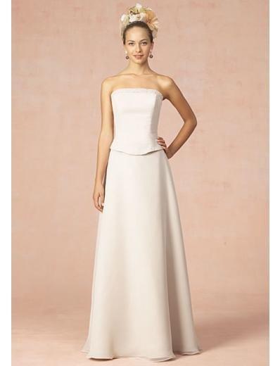 A-Line/Princess Strapless Floor Length Satin Bridesmaid dress for brides new Style(BD0340)