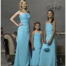 Column/Sheath spaghetti straps Floor Length Chiffon Bridesmaid Dresses for brides new style(BD0294)