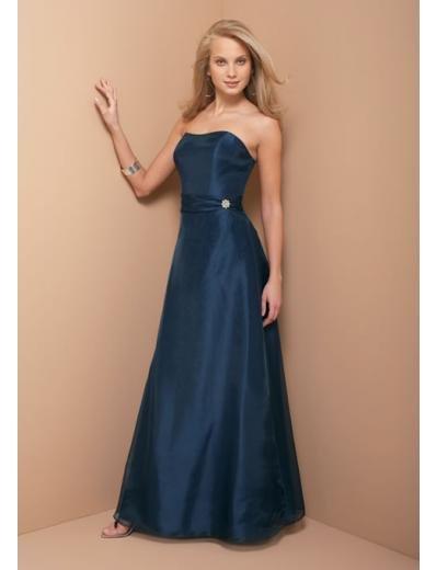 A-Line/Princess Strapless Floor Length Satin Bridesmaid dress for brides new Style(BD0333)