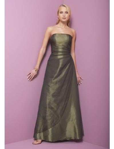 A-Line/Princess Strapless Floor Length Taffeta Bridesmaid dress for brides new Style(BD0331)