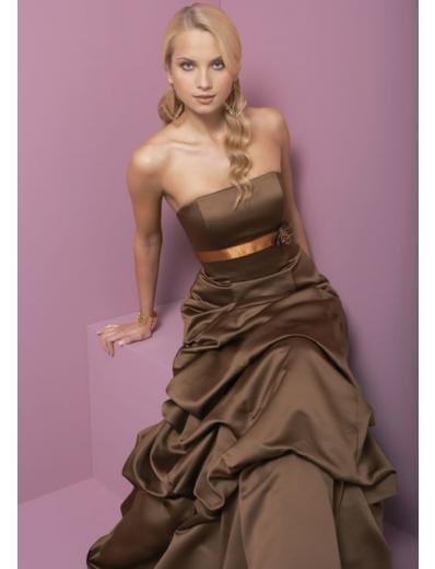 A-Line/Princess Strapless Floor Length Satin Bridesmaid dress for brides new Style(BD0334)