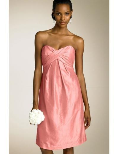 Empire V-neck knee-length Satin Bridesmaid Dresses for brides new style(BDS0009)