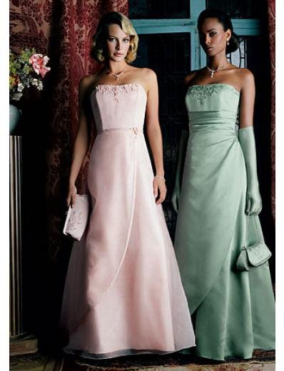 A-Line/Princess Strapless Floor-Length Satin Bridesmaid dress for brides new Style(BDS0030)