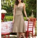 A-Line/Princess Strapless knee-length Satin Bridesmaid Dresses for brides new style(BDS0017)