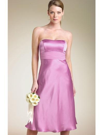 A-Line/Princess Strapless knee-length Satin Bridesmaid dress for brides new Style(BDS0062)