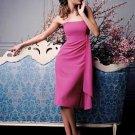 A-Line/Princess Strapless Tea-length Satin Bridesmaid dress for brides new Style(BDS0066)