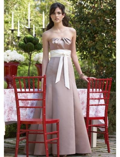A-Line/Princess Strapless Floor-Length Satin Bridesmaid dress for brides new Style(BDS0032)