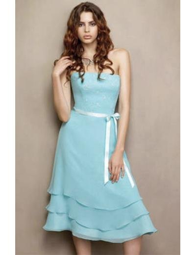 A-Line/Princess Strapless knee-length Chiffon Bridesmaid Dresses for brides new style(BDS0005)