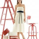 A-Line/Princess Strapless Tea-length Satin Bridesmaid Dresses for brides new style(BDS0047)