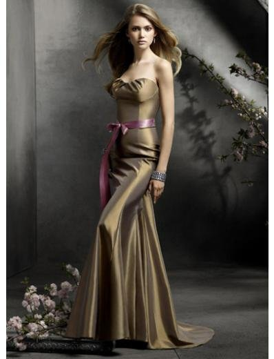 Mermaid Sweetheart brush-Length Satin Bridesmaid Dresses for brides new Style(BDS0049)