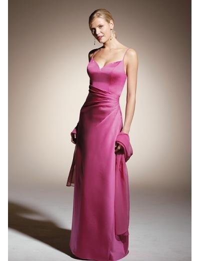 Column/Sheath Spagetti Straps Floor-length train Satin Bridesmaid Dresses for brides(BD0312)