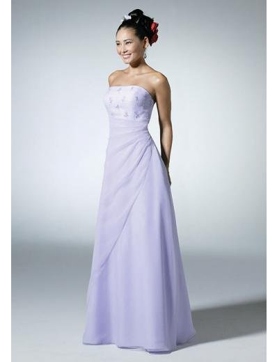 A-Line/Princess Strapless Floor-Length Satin Bridesmaid dress for brides new Style(BD0319)