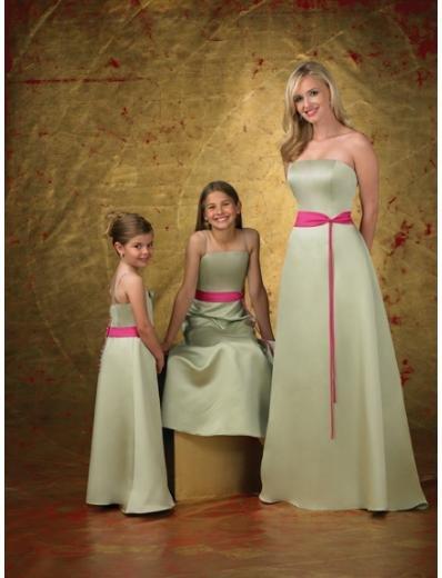 A-Line/Princess Strapless Floor-Length Satin Bridesmaid dress for brides new Style(BD0261)
