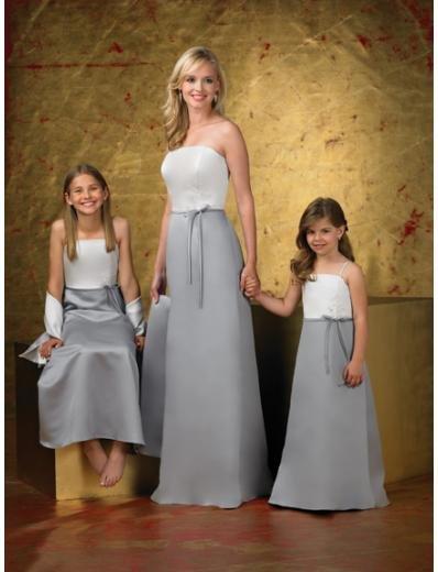 A-Line/Princess Strapless Floor-Length Satin Bridesmaid dress for brides new Style(BD0260)