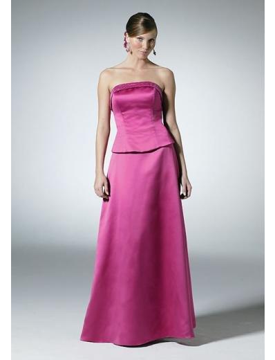 A-Line/Princess Strapless Floor-Length Satin Bridesmaid dress for brides new Style(BD0320)