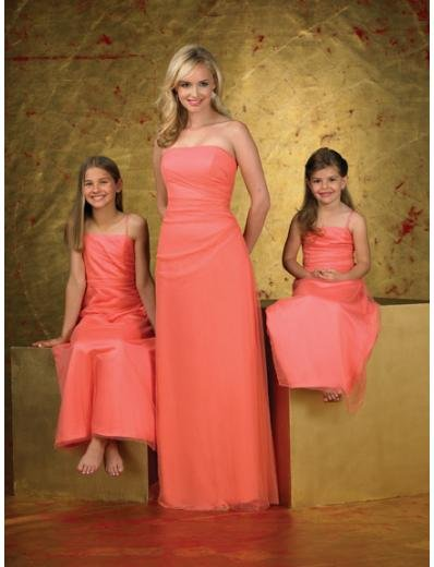 A-Line/Princess Strapless Floor-Length Chiffon Bridesmaid dress for brides new Style(BD0257)