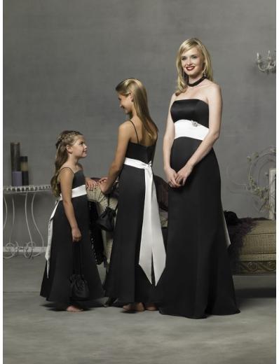 Column/Sheath Strapless Floor Length Satin Bridesmaid Dresses for brides new style(BD0282)