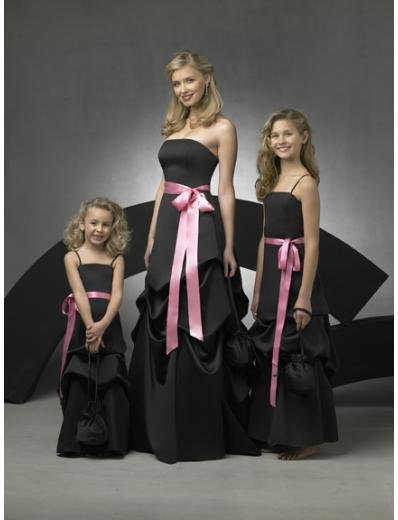 A-Line/Princess Strapless Floor Length Satin Bridesmaid Dresses for brides new style(BD0277)