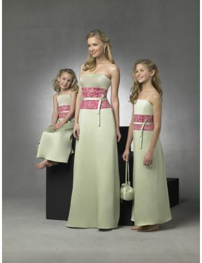 Column/Sheath Strapless Floor Length Satin Bridesmaid Dresses for brides new style(BD0278)