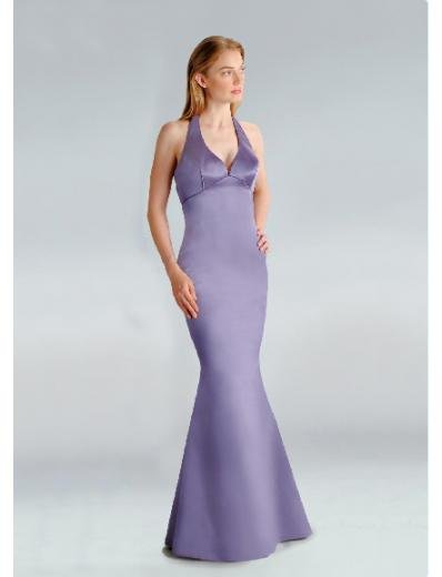 Mermaid Halter Top Floor-Length Satin Bridesmaid Dresses for brides new Style(BD0212)